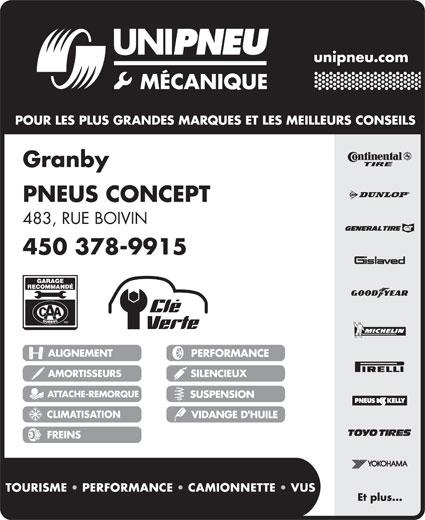 Pneus Concept (450-378-9915) - Annonce illustrée======= -