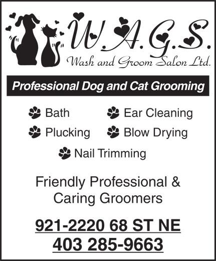 W A G S Wash & Groom Salon Ltd (403-285-9663) - Display Ad -