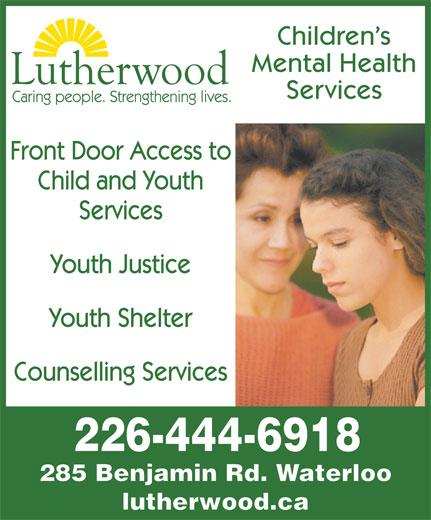 Children S Health: Lutherwood Children's Mental Health Services