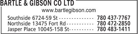 Bartle & Gibson (780-472-2850) - Annonce illustrée======= - www.bartlegibson.com
