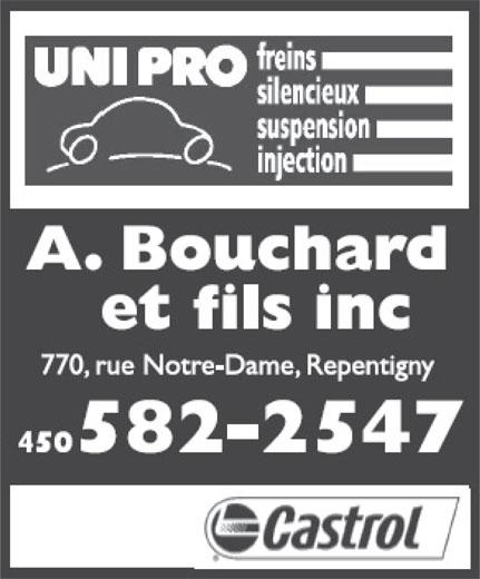 Garage Bouchard A & Fils Inc (450-582-2547) - Annonce illustrée======= -