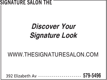The Signature Salon (709-579-5496) - Display Ad - Discover Your Signature Look WWW.THESIGNATURESALON.COM