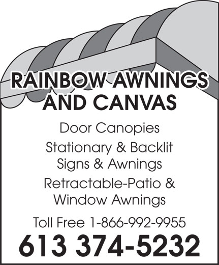 Rainbow Awnings And Canvas