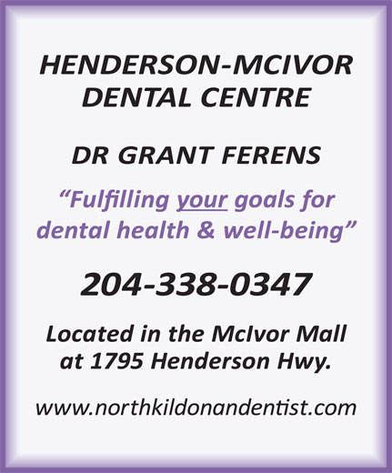 McIvor Dental Centre (204-338-0347) - Display Ad -