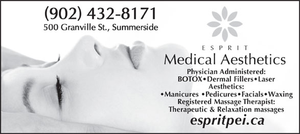 Esprit Medical Aesthetics (902-432-8171) - Display Ad -