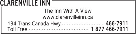 Clarenville Inn (709-466-7911) - Annonce illustrée======= - www.clarenvilleinn.ca The Inn With A View