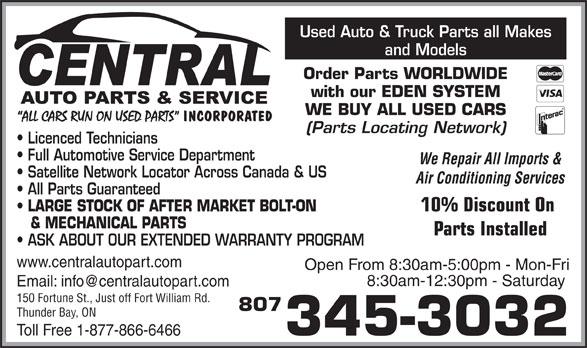 Ads Central Auto Parts