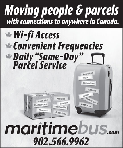 Maritime Bus (902-566-9962) - Display Ad -