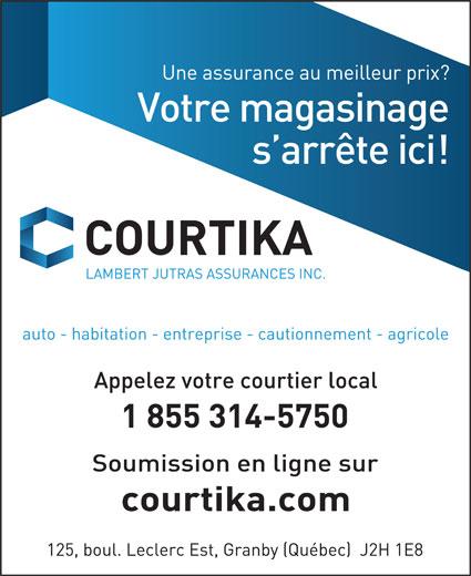 Lambert Jutras Assurances Inc (1-855-314-5750) - Annonce illustrée======= -