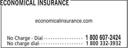 Economical Insurance (1-800-607-2424) - Annonce illustrée======= - economicalinsurance.com