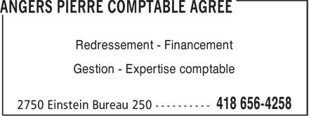 A Services Corporatifs (418-656-4258) - Annonce illustrée======= - Redressement - Financement Gestion - Expertise comptable