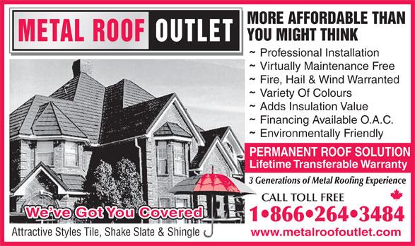 Metal Roof Outlet (519-688-2512) - Annonce illustrée======= -