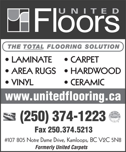 United Floors Kamloops Bc 107 805 Notre Dame Dr