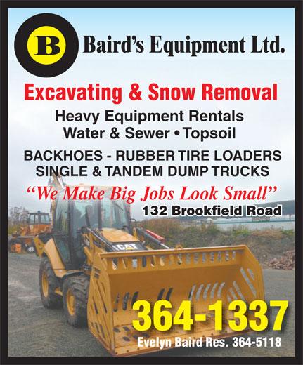 Ads Baird's Equipment Rentals Ltd