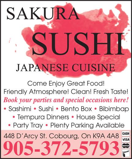 Ads Sakura Sushi Restaurant