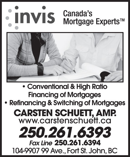 Invis Financial Group (250-261-6393) - Display Ad -