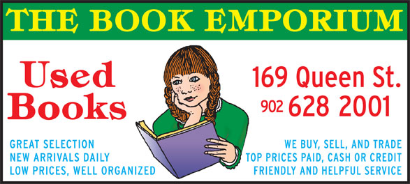 The Book Emporium (902-628-2001) - Display Ad -