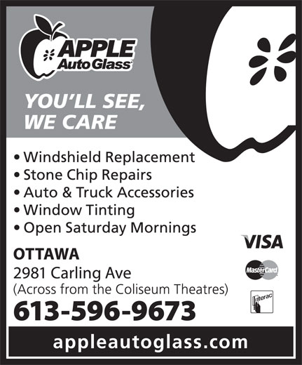 Apple Auto Glass (613-596-9673) - Annonce illustrée======= -