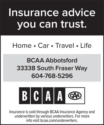 British Columbia Automobile Association - BCAA (604-870-3850) - Display Ad -