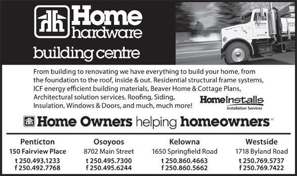 Home Hardware Building Centre (250-493-1233) - Annonce illustrée======= -