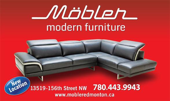 Mobler Furniture (780-444-1199) - Annonce illustrée======= -