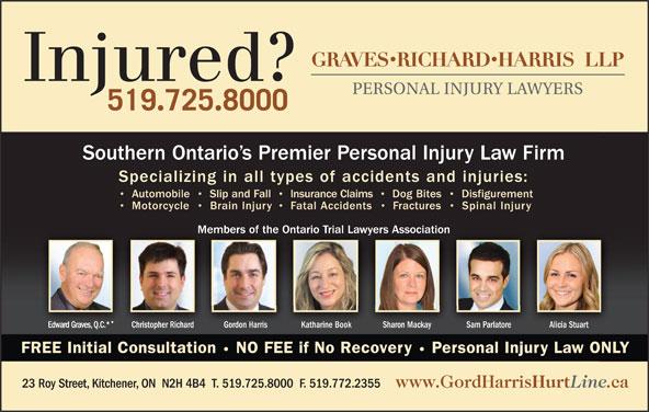 Gordon W Harris Professional Corporation (519-725-8000) - Display Ad -