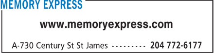Memory Express (204-772-6177) - Display Ad - www.memoryexpress.com www.memoryexpress.com