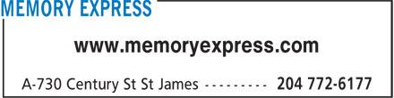 Memory Express (204-772-6177) - Display Ad - www.memoryexpress.com