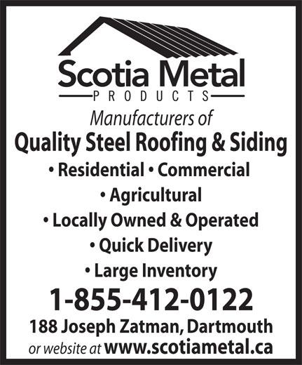 Scotia Metal Products Ltd 188 Joseph Zatzman Dr