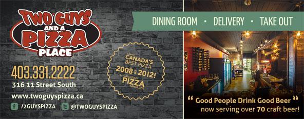Two Guys & A Pizza Place (403-331-2222) - Annonce illustrée======= -