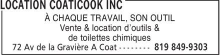 Ads Location Coaticook Inc