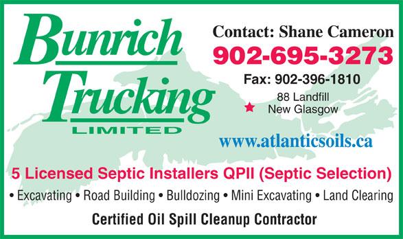 Bun-Rich Trucking Limited (902-396-4110) - Annonce illustrée======= -