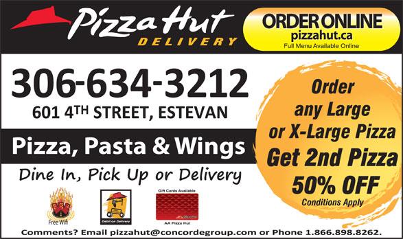 Pizza Hut (306-634-3212) - Annonce illustrée======= -