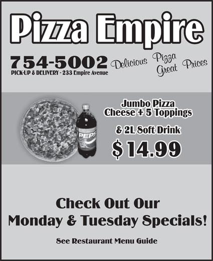 Pizza Empire (709-754-5002) - Display Ad -