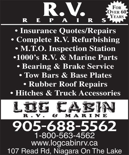 Log Cabin R V Center 107 Read Rd Niagara On The Lake On