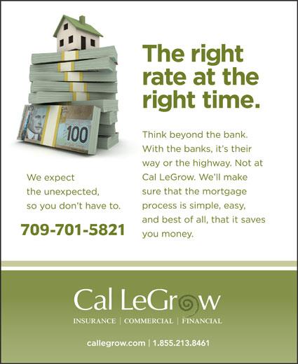 Cal LeGrow Insurance (709-722-3282) - Display Ad - 709-701-5821