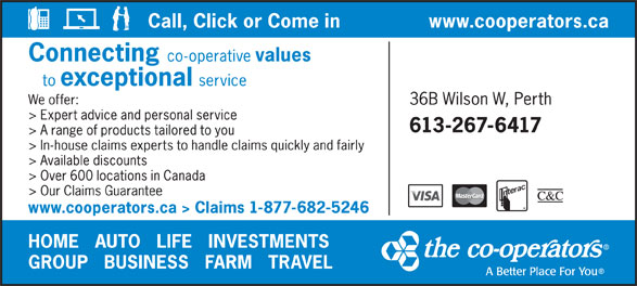 The Co-operators (613-267-6417) - Display Ad -