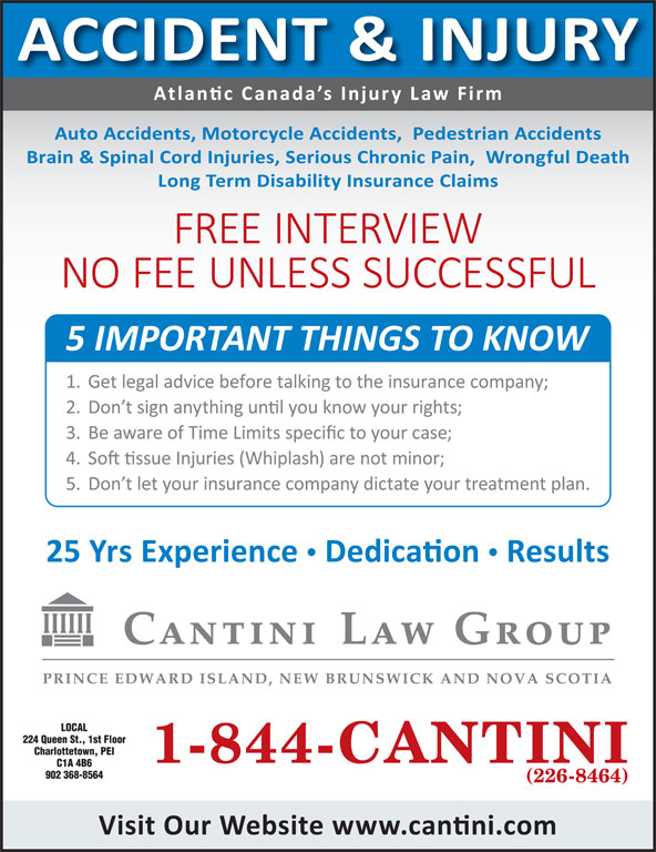 Cantini Law Group (902-368-8564) - Display Ad -