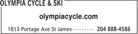 Olympia Cycle & Ski (204-888-4586) - Display Ad - olympiacycle.com olympiacycle.com