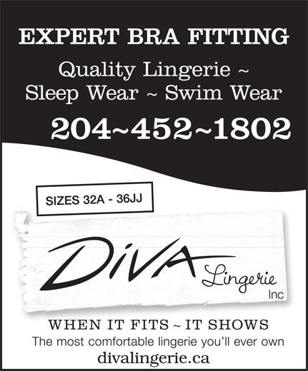 Diva Lingerie Inc (204-452-1802) - Display Ad -