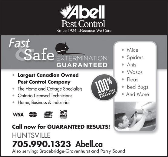 Abell Pest Control (705-727-1135) - Annonce illustrée======= -