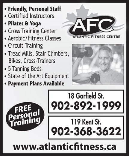 Atlantic Fitness Centre (902-892-1999) - Annonce illustrée======= - 902-892-1999 902-368-3622