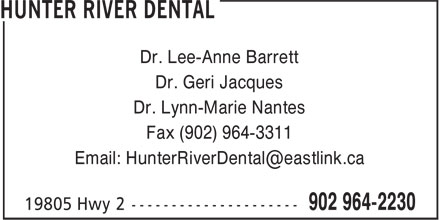 Hunter River Dental (902-964-2230) - Annonce illustrée======= -