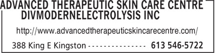 Advanced Therapeutic Skin Care Centre DivModern Electrolysis Inc (613-546-5722) - Annonce illustrée======= - http://www.advancedtherapeuticskincarecentre.com/
