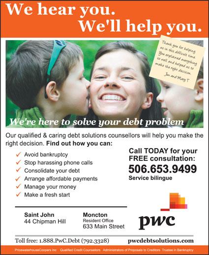 PricewaterhouseCoopers Inc (506-653-9499) - Annonce illustrée======= -