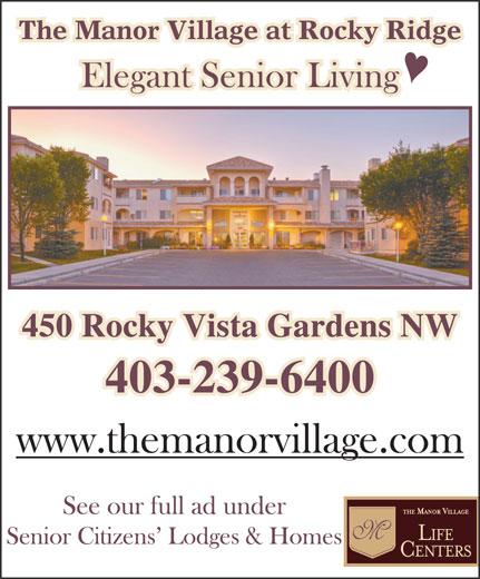 The Manor Village At Rocky Ridge (403-239-6400) - Annonce illustrée======= -