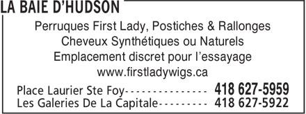 La Baie (418-627-5959) - Display Ad -
