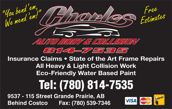 Charles Autobody Collision Ltd (780-814-7535) - Display Ad -