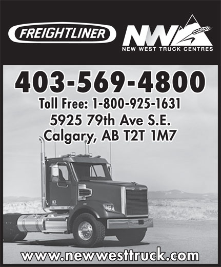 New West Freightliner Inc (403-569-4800) - Annonce illustrée======= -