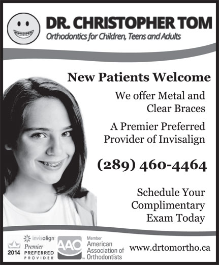 Dr Christopher H Tom (905-839-1268) - Display Ad -